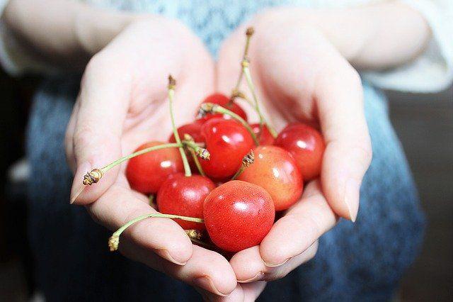 mat som gåva, körsbär